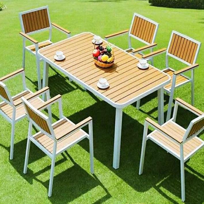 Bàn ghế ngoài trời Ecowood 1500*800*750mm