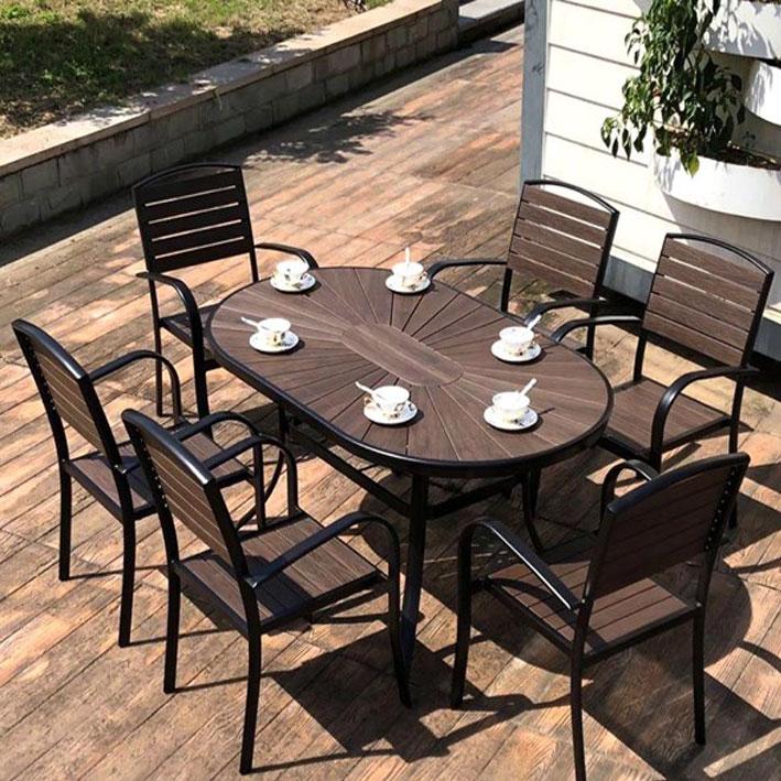 Bàn ghế ngoài trời Ecowood 1500*900*750mm