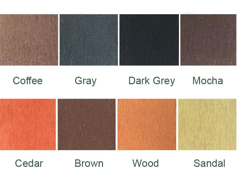 Sàn gỗ ngoài trời hình cầu đặc Ecowood 140*23mm